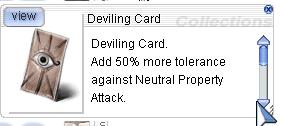 Deviling Card