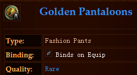 Golden Pantaloons