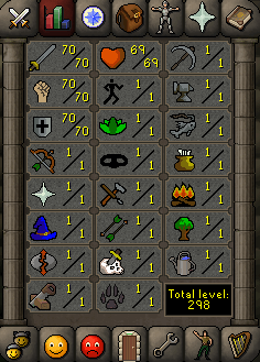 Instant Delivery 100% Safe att70-str70-def70 OSRS Account,No email bound,H4ND Trained