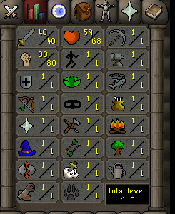 Instant Delivery 100% Safe att40-str80-def1 OSRS Account,No email bound,H4ND Trained