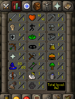 Instant Delivery 100% Safe Just magic 80 OSRS Account,No email bound,H4ND Trained