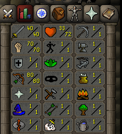 Instant Delivery 100% Safe att40-str70-def1 range80 OSRS Account,No email bound,H4ND Trained