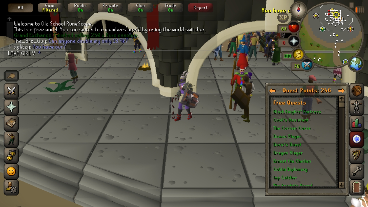 Buy Runescape Old School Server Accounts